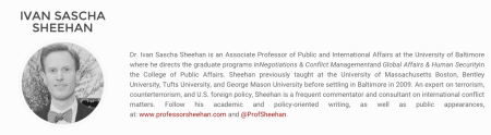 Dr. Ivan Sascha Sheehan Joins NICERC Journal Advisory Board
