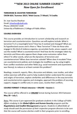 CNCM 620.SU13 - Terrorism & Counterterrorism {Sheehan}