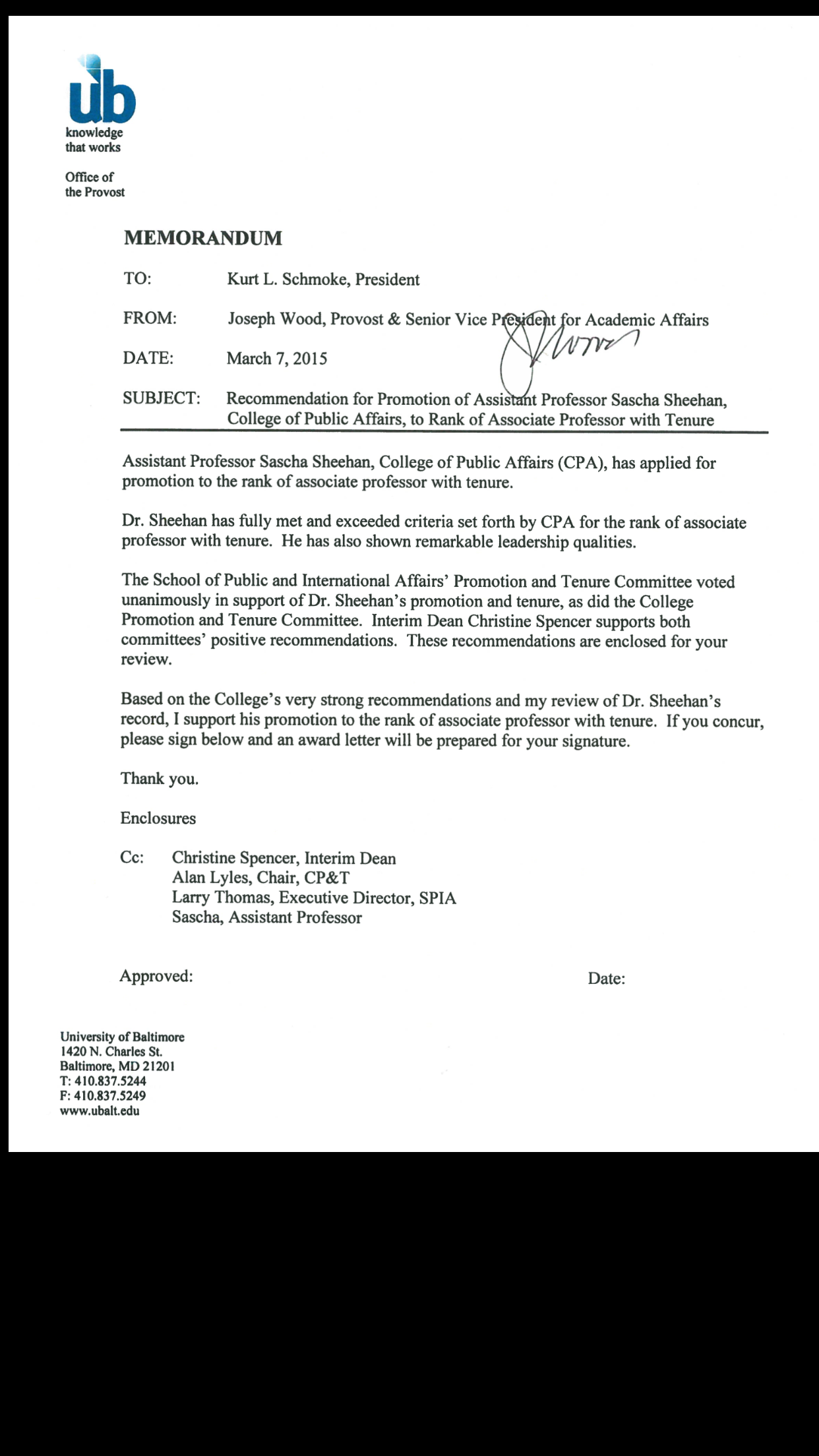 Letter Of Recommendation For Professor Promotion Gallery  Letter