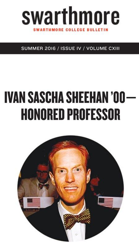 Dr. Ivan Sascha Sheehan - Swarthmore College Bulletin 1
