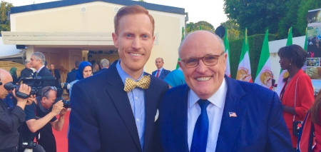 Dr. Ivan Sascha Sheehan and Mayor Rudy Giuliani